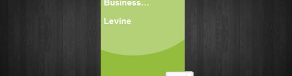 MBA Primer in Business Statistics